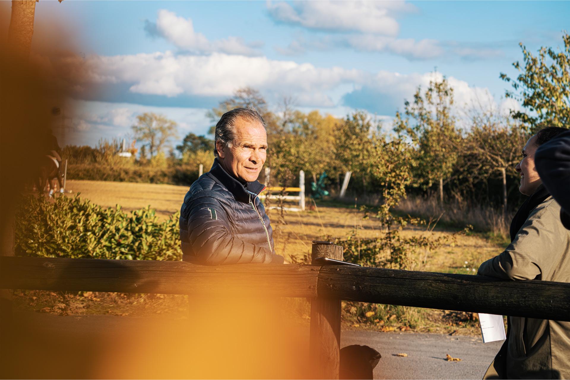 Ernst-Martin Schmidt während dem Interview